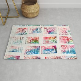 Deck of Cards Monoprint Rug