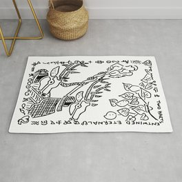 Two Harts Entwined Eternal  (two of hearts) Rug
