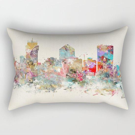 wichita kansas skyline Rectangular Pillow