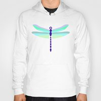 dragonfly Hoodies featuring Dragonfly by tuditees