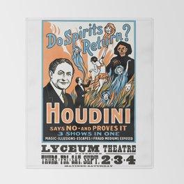 Harry Houdini, do spirits return? Throw Blanket