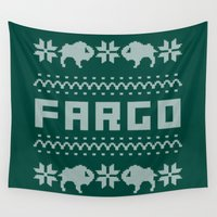 sweater Wall Tapestries featuring Fargo Sweater by Mandrie