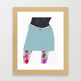 Decorated Legs Framed Art Print