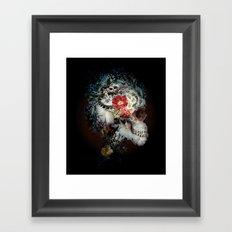 Skull I Black Series Framed Art Print