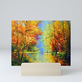 Autumn silence Mini Art Print