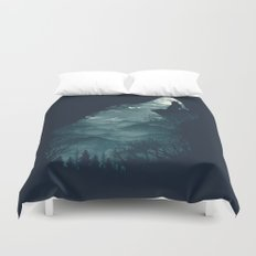 Hungry Wolf Duvet Cover