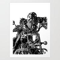 Gang Girl Art Print