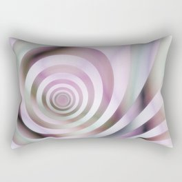 Pastel Colors Striped Pattern Rectangular Pillow