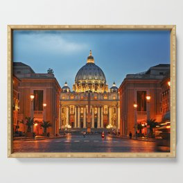 SAINT PETER'S CATHEDRALE in ROME Serving Tray