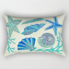 Blue Seashells Rectangular Pillow