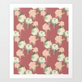 Painted Roses by Katrina Ward Art Print