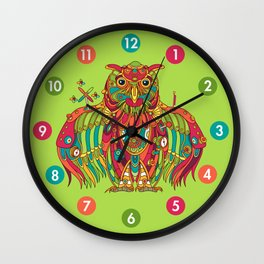 Owl, cool art from the AlphaPod Collection Wall Clock