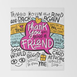 Thank You for Being a Friend Throw Blanket