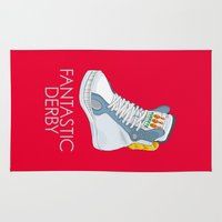 sneakers Area & Throw Rugs featuring White Horse Sneakers by TurkeysDesign