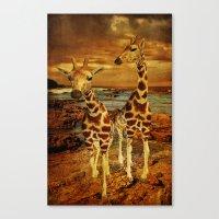giraffes Canvas Prints featuring Giraffes by PineSinger