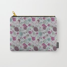 Loosely Floral in Mauve Carry-All Pouch