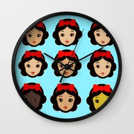 Snow White and her clones Wall Clock