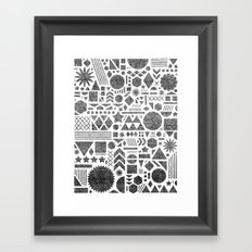 Modern Elements with Black. Framed Art Print