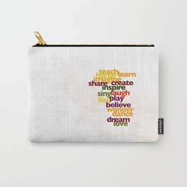 Words to Live By Carry-All Pouch