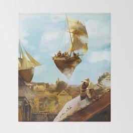 Sky Fishermen Throw Blanket