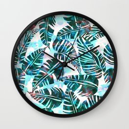 Lani Kai Leaf Green Wall Clock