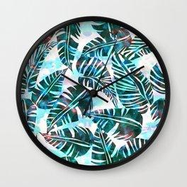 Lani Kai Leaf Green Wall Clock