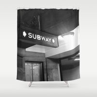 subway Shower Curtains featuring NYC Subway  by Raleigh Tillman
