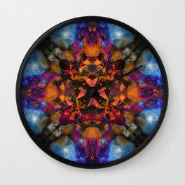 Psychedelic kaleidoscope cloud pattern Wall Clock