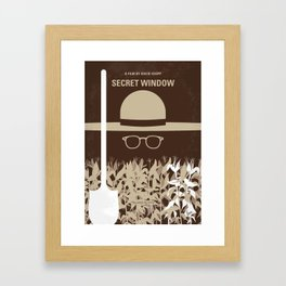 No830 My Secret Window minimal movie poster Framed Art Print