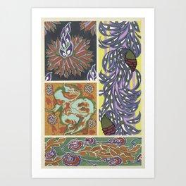 Vintage art deco pattern Art Print