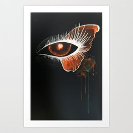 Inverted Butterfly Eye Art Print