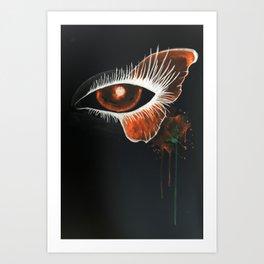 Inverted Butterfly Eye Art Print