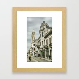 Montevideo Historic Center Cityscape Framed Art Print