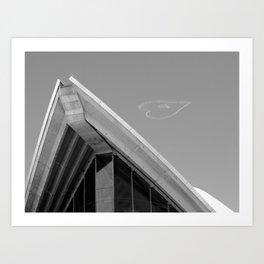Skywriting above the Sydney Opera House - Valentine's Day Art Print