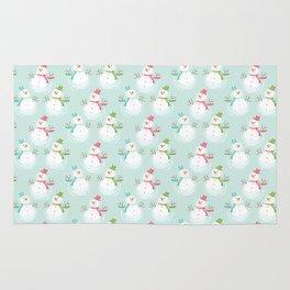 Adorable Christmas Snowmen Pattern Rug