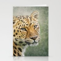leopard Stationery Cards featuring Leopard by Pauline Fowler ( Polly470 )
