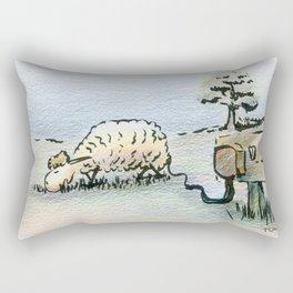 Electric Sheep Rectangular Pillow