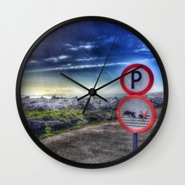 Do not swim with the dolphin Wall Clock