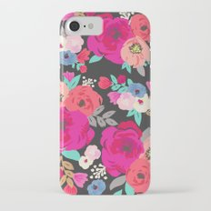 Sweet Pea Floral Black Bright Color iPhone 7 Slim Case