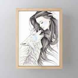 Witch Wolf Framed Mini Art Print