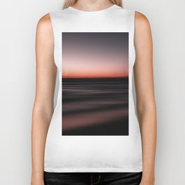 Sunset Shades of Magenta Beach Ocean Seascape Landscape Coastal Fine Art Print Biker Tank