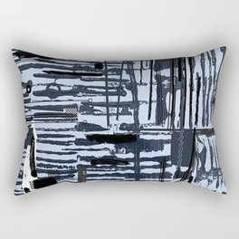 Black and White Stick Abstract Pattern Rectangular Pillow
