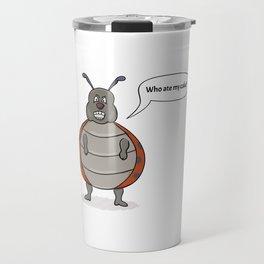 ladybug asking for her cake Travel Mug