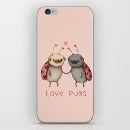 Love Pugs iPhone Skin