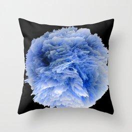 Fantasy Sea Anemone in Blue Throw Pillow