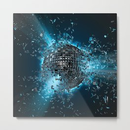 Disco planet explosion Metal Print