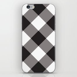 Gingham - Black iPhone Skin