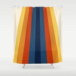 Bright 70's Retro Stripes Shower Curtain