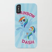 mlp iPhone & iPod Cases featuring MLP FiM: Rainbow Dash by Yiji