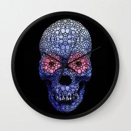 Skull Art - Day Of The Dead 1 Stone Rock'd Wall Clock